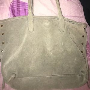 Suede gray H&M bag